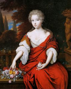 Portrait of a young Lady as Flora,1685-90 Jan van Haesbergen