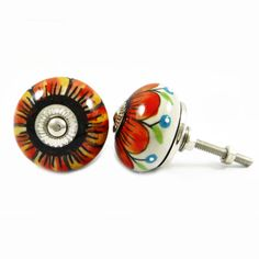 Set of 2 Beautiful ceramic Knobs. ..this is img