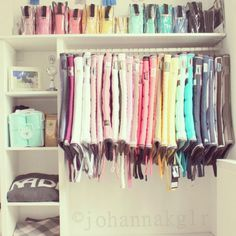 I'm going to do this in my future barn when I have my 50 million saddle pads in every color.