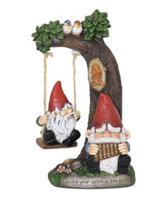 Exhart Gnomes on a Swing Garden Gnome | zulily