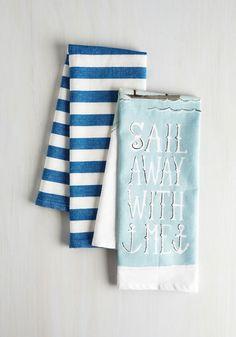 Ahoy Meets World Tea Towel Set