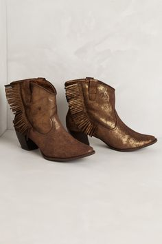 Zousa Fringe Booties - Anthropologie.com