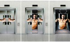 Promover el ejercicio en un ascensor