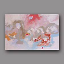 Abstract Art Original Painting Expressionist Modern Acrylic on...
