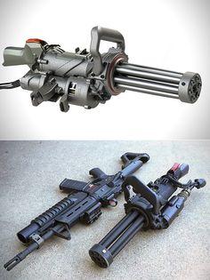 Microgun is World's First Electric Handheld Gatling Gun, Here's an Up-Close Look Zombie Weapons, Ninja Weapons, Weapons Guns, Guns And Ammo, Light Machine Gun, War Machine, Rifles, Custom Guns, Weapon Concept Art