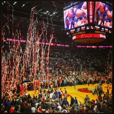 The Portland Trailblazers play at the Rose Garden