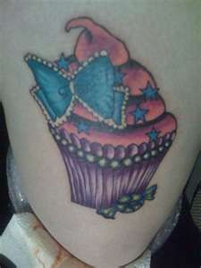 Cupcake tattoo