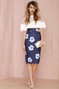 Instant Karma Neoprene Midi Skirt | Shop Clothes at Nasty Gal