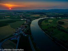 Ein heißer und schöner Tag, geht mit einem wunderschönen Sonnenuntergang zu Ende. #Sonnenuntergang #Luftbildaufnahme #Osterhofen #Donau #Bayern #Dahoam #DJI #Inspire1