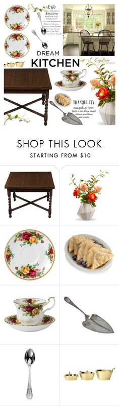 """""""Country kitchen"""" by susli4ek ❤ liked on Polyvore featuring interior, interiors, interior design, home, home decor, interior decorating, National Tree Company, WALL, Royal Albert and French Toast"""