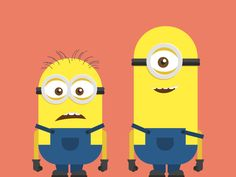 Minions / Despicable Me Characters Illustration / Flat design / by Dan Dragomir http://dribbble.com/shots/1185365-Minions