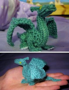Knitting pattern for Palm Sized Dragon