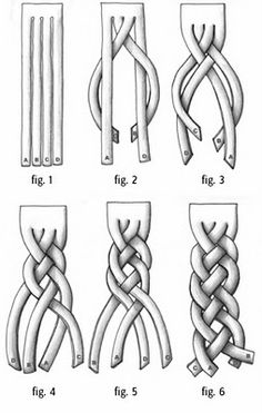 4 strand braiding easy tutorial - wonder if I could pull it off with hair?
