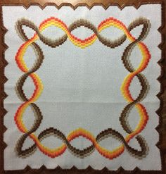 Broderie Bargello, Bargello Needlepoint, Needlepoint Stitches, Needlepoint Kits, Hardanger Embroidery, Embroidery Applique, Modern Cross Stitch Patterns, Diy Hair Accessories, Textile Art