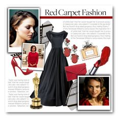 """""""Red Carpet Fashion: Natalie Portman"""" by lalalaballa22 ❤ liked on Polyvore featuring Christian Siriano, Christian Dior, Badgley Mischka, Wild Diva and Rebecca Minkoff"""