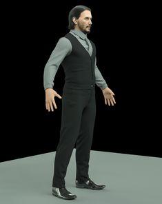 ArtStation - John Wick WIP update, Ismael Ramos Zinedine Zidane Real Madrid, John Wick, Keanu Reeves, Zbrush, 3 D, Normcore, Necromancer, Weapons Guns, Clothes