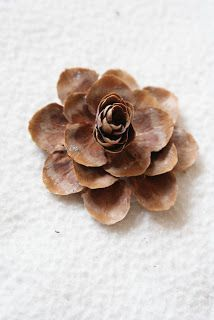 Better Nester: How To Make Pine Cone Flowers Pine Cone Art, Pine Cone Crafts, Wreath Crafts, Flower Crafts, Diy Flowers, Paper Flowers, Nature Crafts, Fall Crafts, Holiday Crafts