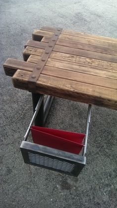 Cedar & Steel Rustic Industrial Desk 039    by IndustEvo on Etsy