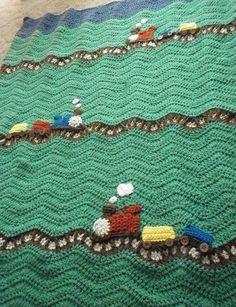 Train Blanket by sallie (no pattern) Beautiful