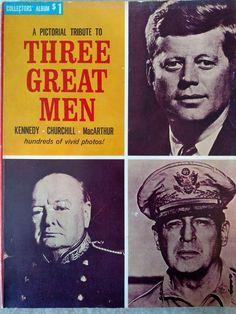 Tribute Three Great Men John Kennedy Winston Churchill General MacArthur Photos | Books, Nonfiction | eBay!