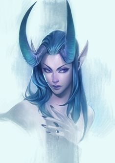 Character Portraits, Character Drawing, Character Reference, Dnd Characters, Female Characters, Fictional Characters, Demon Heart, Female Elf, Female Dragon