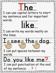 Mini anchor chart to help students remember writing skills.  FREE printable from JD's Rockin' Readers.