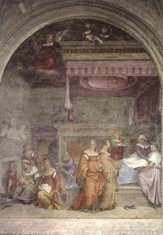 Andrea del Sarto - Birth of the Virgin  Birth of the Virgin  1514 Fresco, 413 x 345 cm Santissima Annunziata, Florence