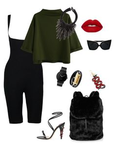 """""""Untitled #245"""" by stylistrr on Polyvore featuring Boohoo, Gucci, Puma, South Lane, Tory Burch, Eskandar, N°21 and Lime Crime"""