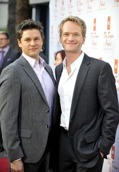 David Burtka and Neil Patrick Harris pose for a picture at The Trevor Projects annual 'Trevor LIVE' held at The Hollywood Palladium on December 5, 2010 in Hollywood, California.