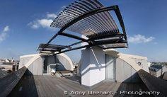 Rau Architekten - Penthouse Wien #flatroof #addeddoublefunction #ST #evacuatedtubes #Austria