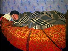 """Felix Vallotton, """"Laid down woman, sleeping,"""" 1899"""