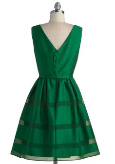 Dinner Party Darling Dress in Emerald   Perf.