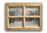 Vinterlandskap i chabby chic tre vinduramme
