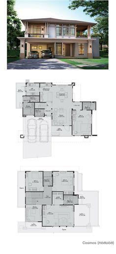 home design decor Dream House Plans, Modern House Plans, Small House Plans, Modern House Design, House Floor Plans, Architecture Plan, Architecture Details, Villa Plan, Home Design Plans