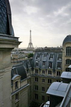 Paris... eating croissant from a plush hotel room, making love like the good french intended and looking out at the Eiffel Tower.