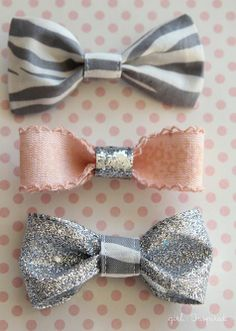 FREE Sewing Tutorial | #DIY Hair Bows from @Stef (Girl. Inspired.)
