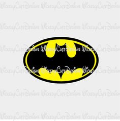 Bat Symbol SVG, DXF, EPS, PNG Digital File