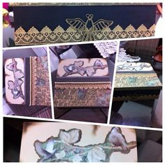 Caixa Mdf, decorada com scrapdecor.
