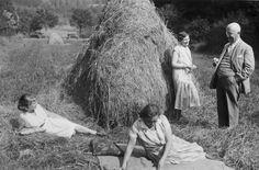 Picknick im Feld Nr. 1, wohl Saarland um 1930