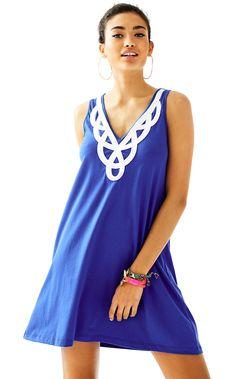 c248ba3ef592 Blythe V-Neck Swing Dress. Blue Summer DressesSummer Dresses For  WomenDresses For SalePreppy OutfitsChic OutfitsTunic ShirtLilly PulitzerSeersucker  ...