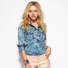 Veste jean femme mode