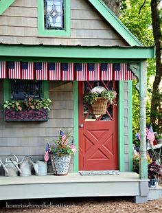 I pledge allegiance to the flag on my Potting Shed :)