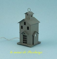 lantern with 12 Volts lamp dollhouse 1:12th scale