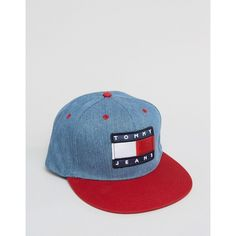 731a89c7b36 Tommy Jeans 90s Denim Cap in Mid Wash ( 45) ❤ liked on Polyvore featuring