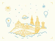 Would be cool as a tattoo of the skyline of Toledo Edinburgh / by Egle Kazdailyte