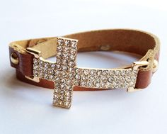 Sideways Cross Bracelet  http://www.shoplylm.com/collections/fashion-jewelry/products/crystal-cross-wrap