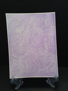 katrine leber made this card.  more watercoloring over white embossed background stamp