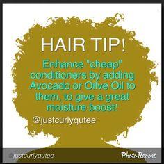 @Justcurlyqutee Natural Hair Tip