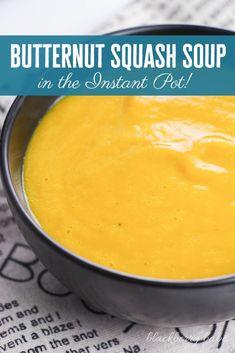 Perfect Butternut Squash Soup in the Instant Pot! Cooker Recipes, Crockpot Recipes, Soup Recipes, Chili Recipes, Family Recipes, Delicious Recipes, Salad Recipes, Vegan Recipes, Vegane Rezepte