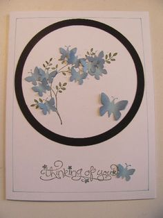 FS397 Blue Butterflies by SilverSnow - Cards and Paper Crafts at Splitcoaststampers